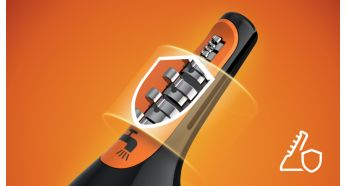 Advanced guard system prevents pulling, nicks & cuts - Philips Nose & Ear Trimmer Series