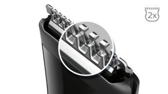 Технологии DualCut: более острые лезвия* для идеально четких линий