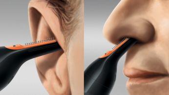 Lengvai pasiekite nosyje arba ausyse augančius plaukus
