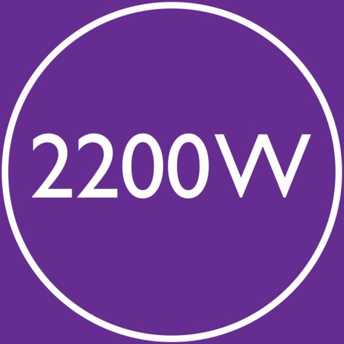 Ισχύς 2200 W για γρήγορο στέγνωμα υψηλής απόδοσης