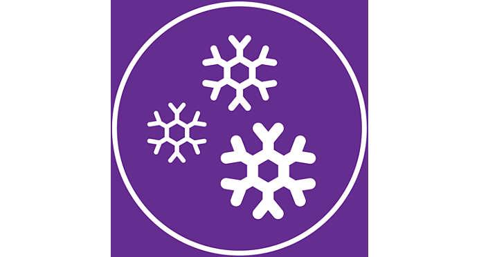 Cold Shot, ριπή κρύου αέρα για σταθεροποίηση του χτενίσματος
