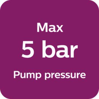 Максимальное давление насоса — 5бар