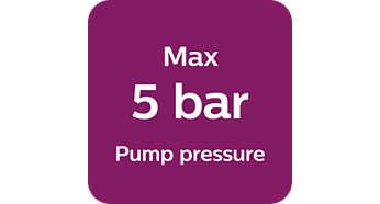 Pression de pompe maxi. 5bars