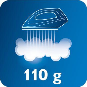 110 gr/dk'ya kadar kesintisiz buhar püskürtme