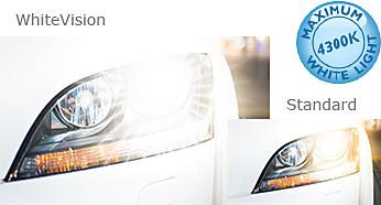 Heldere lichtbundel met 40% witter licht (4300 Kelvin)