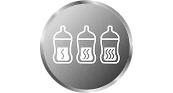 Différents réglages pour réchauffer votre lait