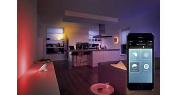 Easy to operate with intuitive hue app