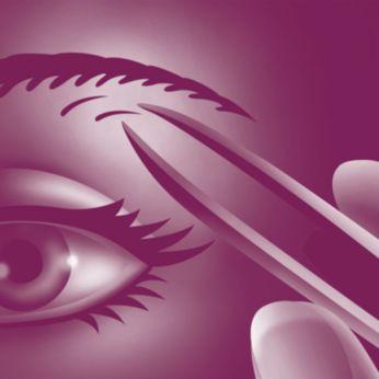 Nhíp nhổ thích hợp để tỉa lông vùng mặt và trán