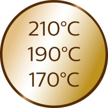 3 Temperatur- und 3 Timer-Einstellungen für lockere und feste Locken