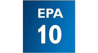 Il filtro EPA cattura gli acari che causano allergie