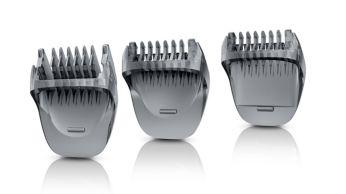 Три гребня для точного подравнивания волосков на лице