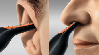 Perfectly angled for easy reach inside ear or nose