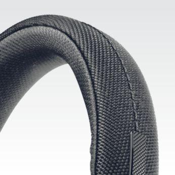Maksimum konfor için naylon kaplamalı paslanmaz çelik baş bandı