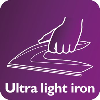 light weight iron makes ironing easier and more comfortable