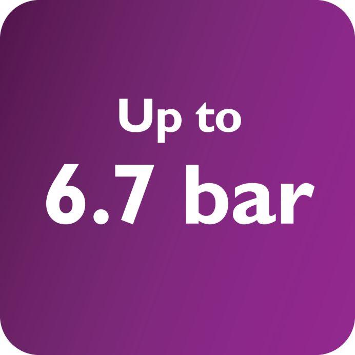 6,7'ye varan bar basıncı