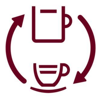 Эспрессо или классический кофе с помощью функции CoffeeSwitch