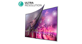 Технология Ultra Resolution преобразует любой сигнал в четкое изображение Ultra HD