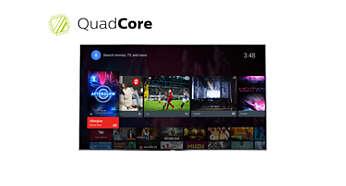 Оцените невероятные возможности процессора Quad Core и встроенной ОС Android