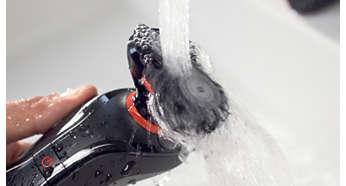 Ручка и насадка-триммер для тела являются водонепроницаемыми