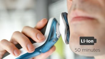 50 minutes of cordless shaving after a one-hour charge