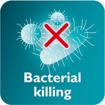 Vapeur tue jusqu'à 99,9% des bactéries *