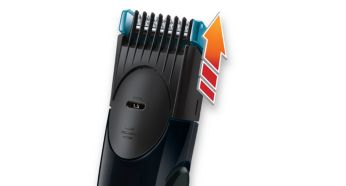 Length settings from 1,5mm to 7mm, 0,5mm without the comb