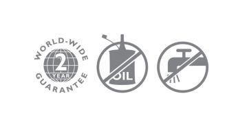 2-годишна международна гаранция, без необходимост от смазване