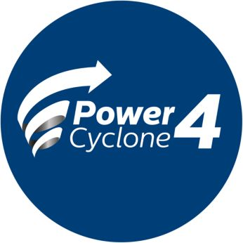 PowerCyclone technology for efficient aspiration