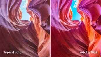 Profesyonel renk standartları %99 AdobeRGB, %100 sRGB