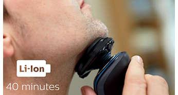 40 perc vezeték nélküli borotválkozás