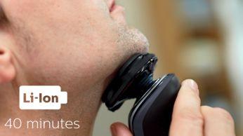 40 минути безкабелно бръснене