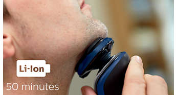 50 minutes of cordless shaving