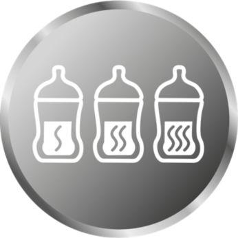 將奶水加熱到寶寶喜歡的溫度
