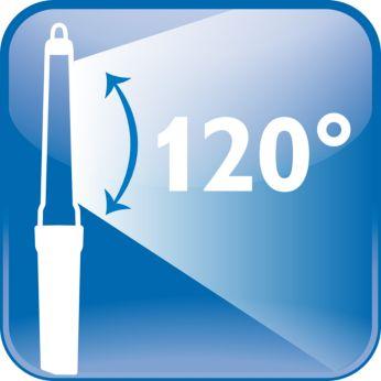 Amplitud del ángulo de apertura: hasta120°