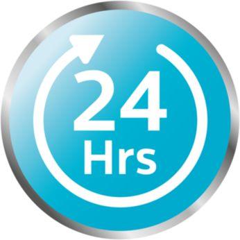 Содержимое остается стерильным до 24часов