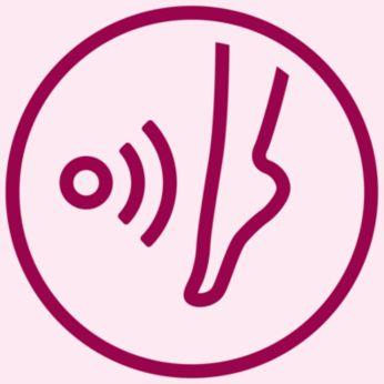 Zintegrowany czujnik odcienia skóry zapewnia dodatkową ochronę