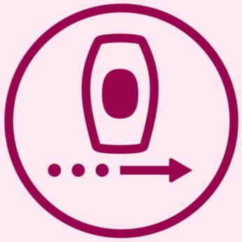 Modo de deslizamiento y flash para una aplicación más cómoda
