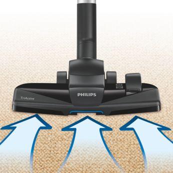"""Новая насадка TriActive """"3 в 1"""" собирает крупные и мелкие частички пыли"""