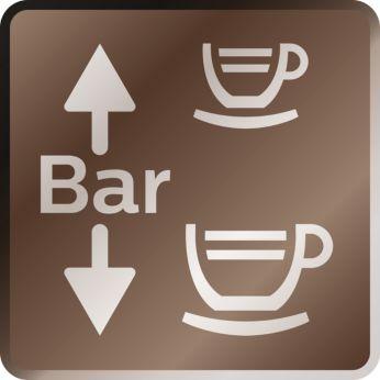 Presiune variabilă de preparare pentru cafea şi espresso