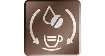Wybierz smak kawy, zmieniając czas wstępnego zaparzania