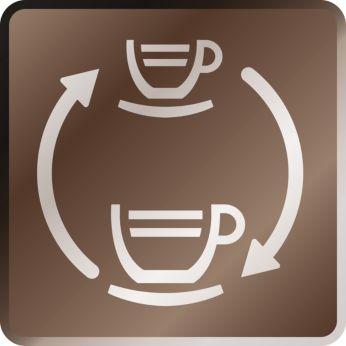 Presiune variabilă de preparare pentru cafea clasică şi espresso