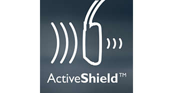 ActiveShield™ noise canceling reduces noise by up to 97%