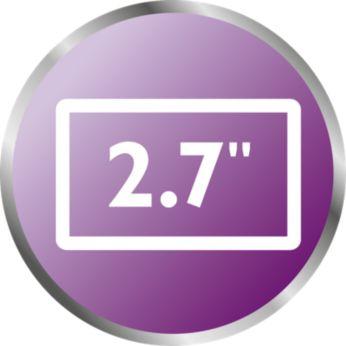 """Écran 2,7"""" haute résolution avec vision nocturne ultra-nette"""