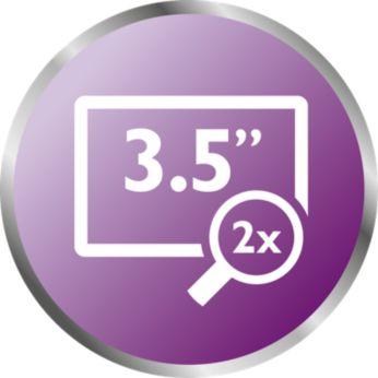 """Écran 3,5"""" haute résolution avec vision nocturne ultra-nette"""