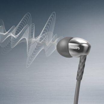 高效 9 毫米驅動器可帶來清晰且強大的音效
