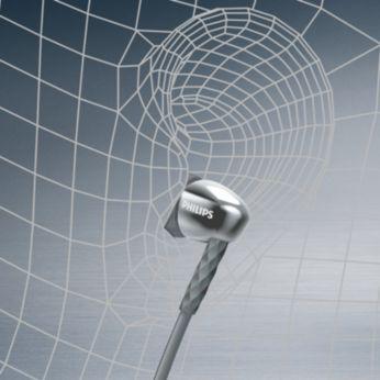 人體工學設計的橢圓形音管,提供真正舒適貼合感覺