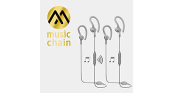 MusicChain™ allows easy music sharing with friends