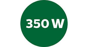 Powerful 350 Watt motor provides satisfactory results
