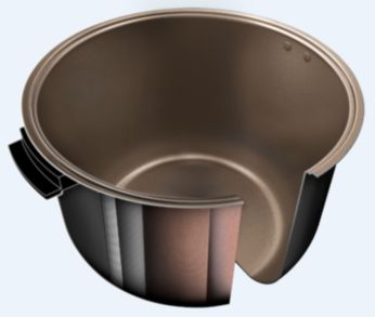 Advanced anti-scratch coating for a long lasting pot