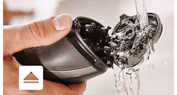 Бритву можно мыть под проточной водой